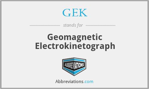 GEK - Geomagnetic Electrokinetograph