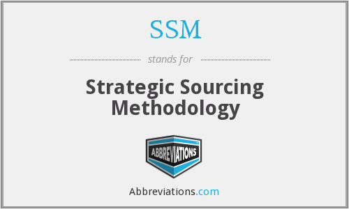 SSM - Strategic Sourcing Methodology