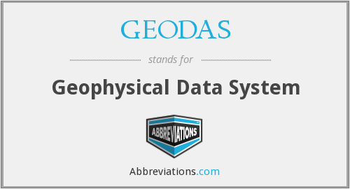 GEODAS - Geophysical Data System
