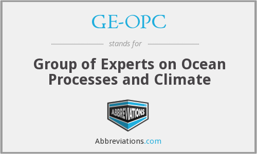 What does GE-OPC stand for?