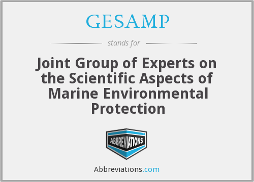 What does GESAMP stand for?