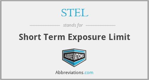 STEL - Short Term Exposure Limit