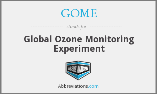 GOME - Global Ozone Monitoring Experiment