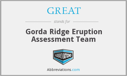 GREAT - Gorda Ridge Eruption Assessment Team