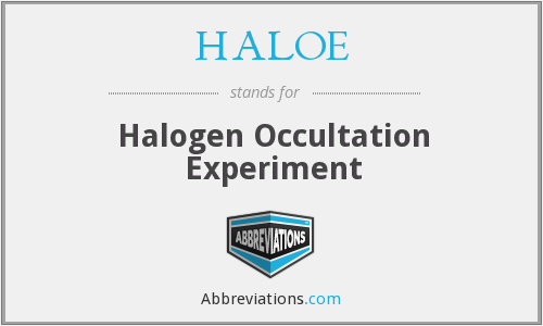 What does HALOE stand for?