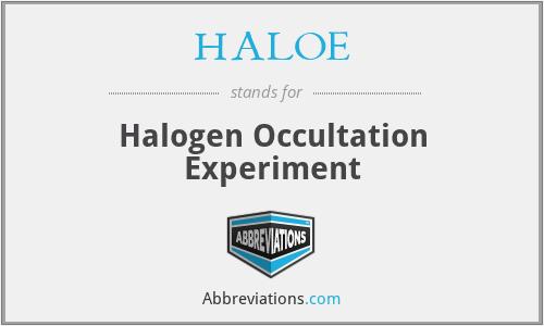 HALOE - Halogen Occultation Experiment