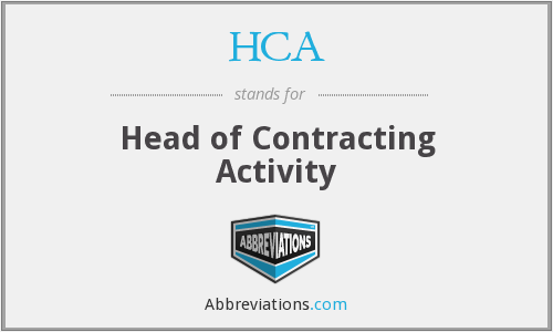 HCA - Head of Contracting Activity