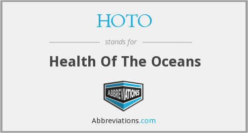 HOTO - Health Of The Oceans