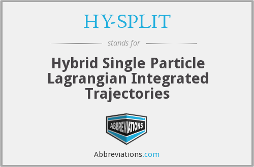 HY-SPLIT - Hybrid Single Particle Lagrangian Integrated Trajectories