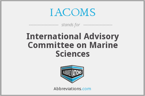IACOMS - International Advisory Committee on Marine Sciences