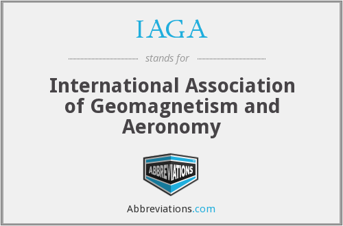 What does IAGA stand for?