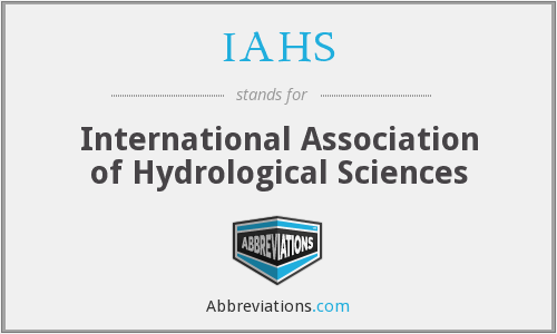 What does IAHS stand for?