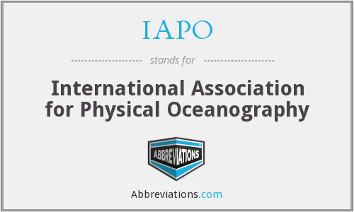 What does IAPO stand for?