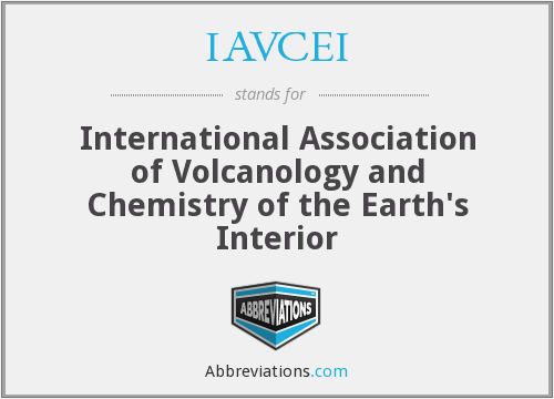What does IAVCEI stand for?