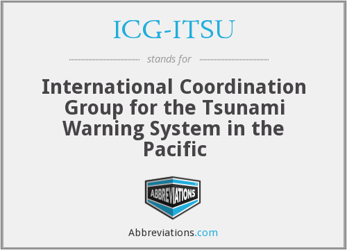 ICG-ITSU - International Coordination Group for the Tsunami Warning System in the Pacific