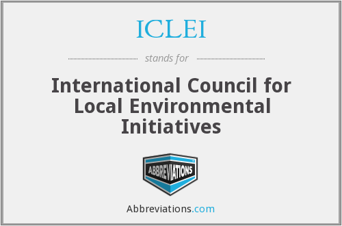 What does ICLEI stand for?