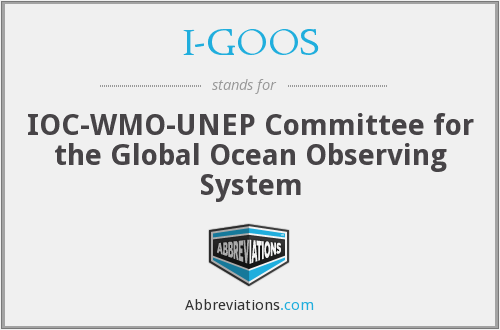 I-GOOS - IOC-WMO-UNEP Committee for the Global Ocean Observing System