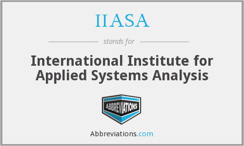 What does IIASA stand for?