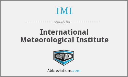 IMI - International Meteorological Institute
