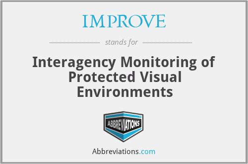 IMPROVE - Interagency Monitoring of Protected Visual Environments
