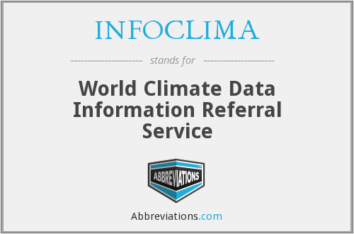 INFOCLIMA - World Climate Data Information Referral Service