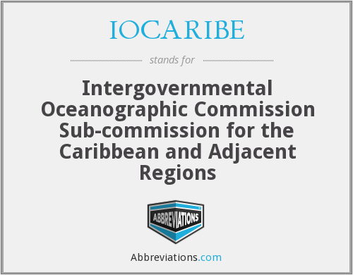 What does IOCARIBE stand for?