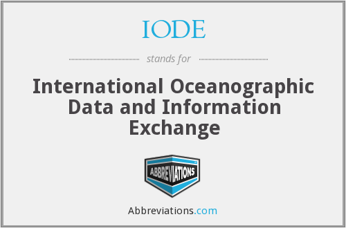 What does IODE stand for?