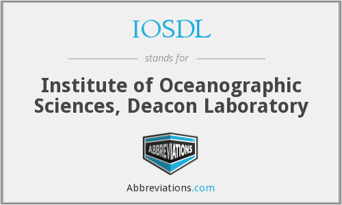 IOSDL - Institute of Oceanographic Sciences, Deacon Laboratory