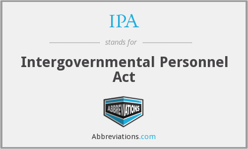 IPA - Intergovernmental Personnel Act
