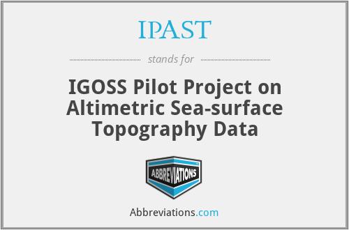 IPAST - IGOSS Pilot Project on Altimetric Sea-surface Topography Data