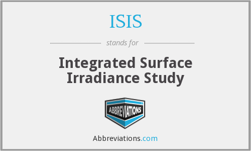 ISIS - Integrated Surface Irradiance Study