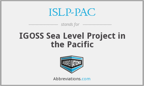 ISLP-PAC - IGOSS Sea Level Project in the Pacific