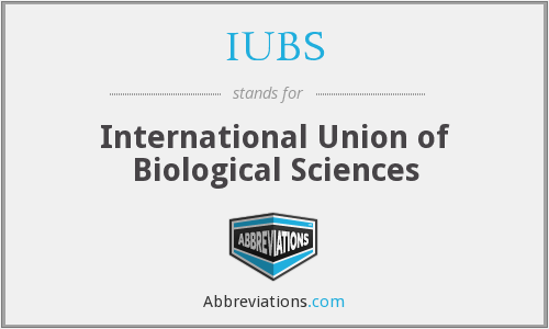 What does IUBS stand for?