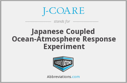 J-COARE - Japanese Coupled Ocean-Atmosphere Response Experiment
