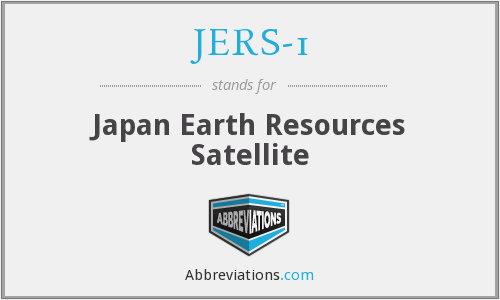 What does JERS-1 stand for?