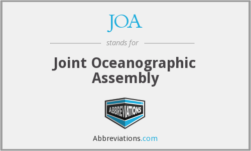 JOA - Joint Oceanographic Assembly