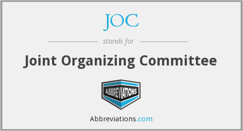 JOC - Joint Organizing Committee