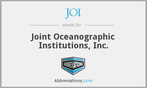 JOI - Joint Oceanographic Institutions, Inc.