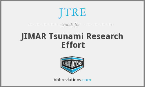 JTRE - JIMAR Tsunami Research Effort