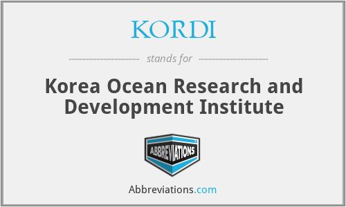 KORDI - Korea Ocean Research and Development Institute