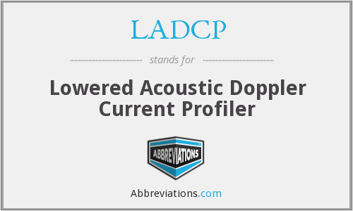 LADCP - Lowered Acoustic Doppler Current Profiler