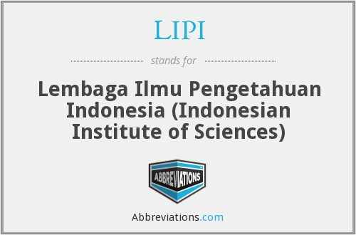 What does LIPI stand for?