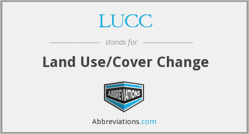 LUCC - Land Use/Cover Change