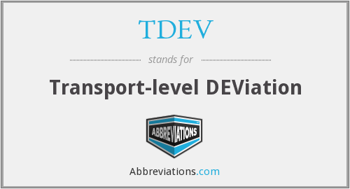 What does TDEV stand for?