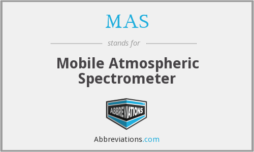 MAS - Mobile Atmospheric Spectrometer
