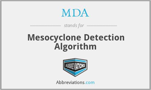 MDA - Mesocyclone Detection Algorithm