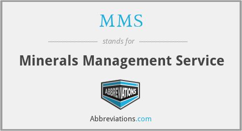 MMS - Minerals Management Service