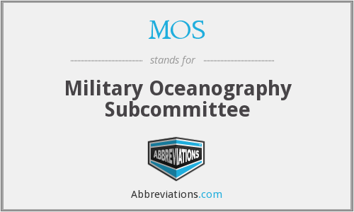 MOS - Military Oceanography Subcommittee