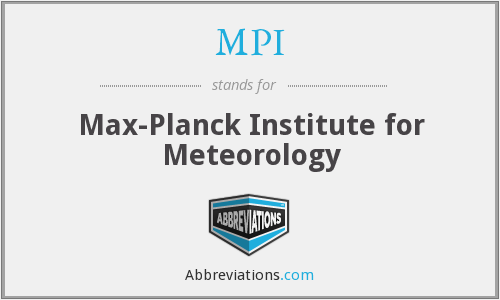 MPI - Max-Planck Institute for Meteorology