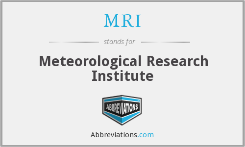 MRI - Meteorological Research Institute